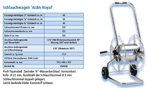 Schlauchwagen Alba Royal