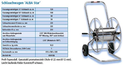 Schlauchwagen Alba Star