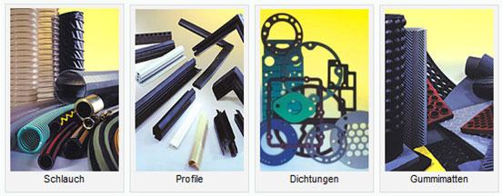 Schlauch - Profile - Dichtungen - Gummimatten
